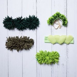 Other - Green Hair Accessory Bundle